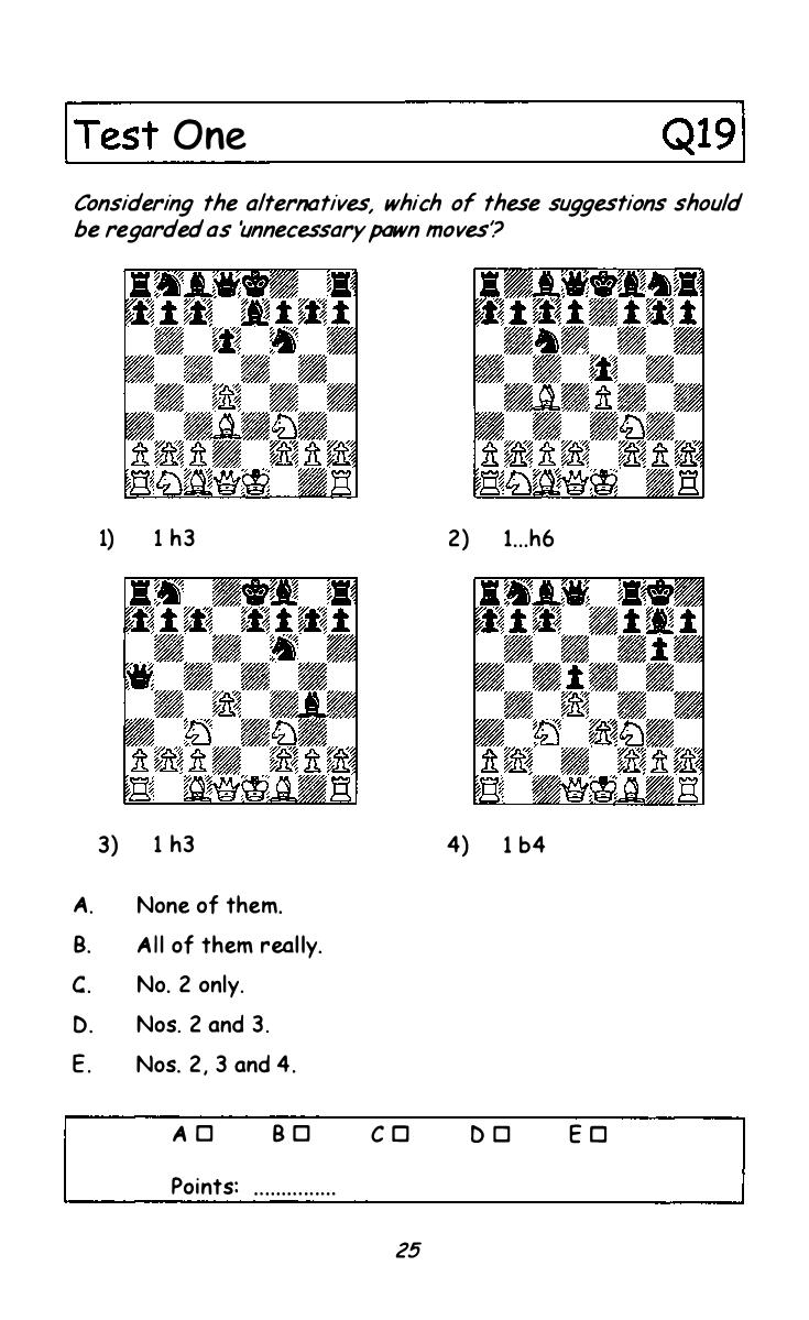 Chess Choice Challenge (Ward & Emms) Test 1, Q19